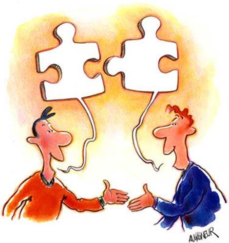 Znalezione obrazy dla zapytania rozmowa dwóch osób dialog